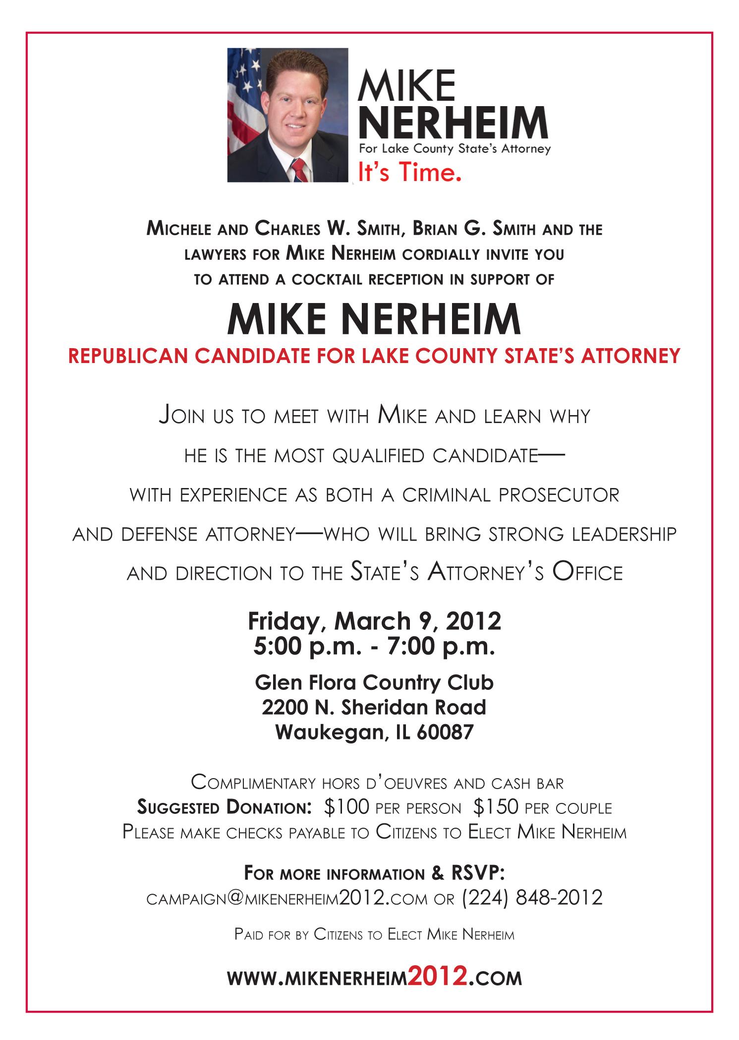 March 9 Campaign Event Invitation