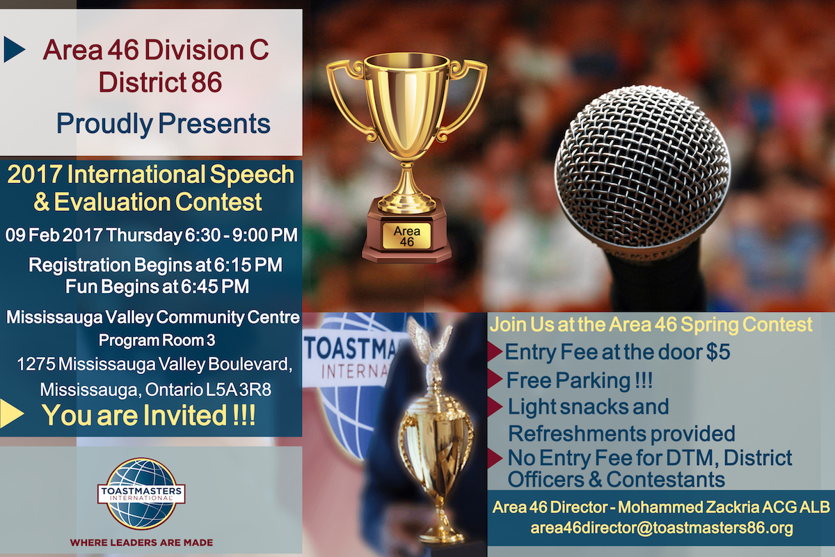 Area 46 International Speech & Evaluation Contest