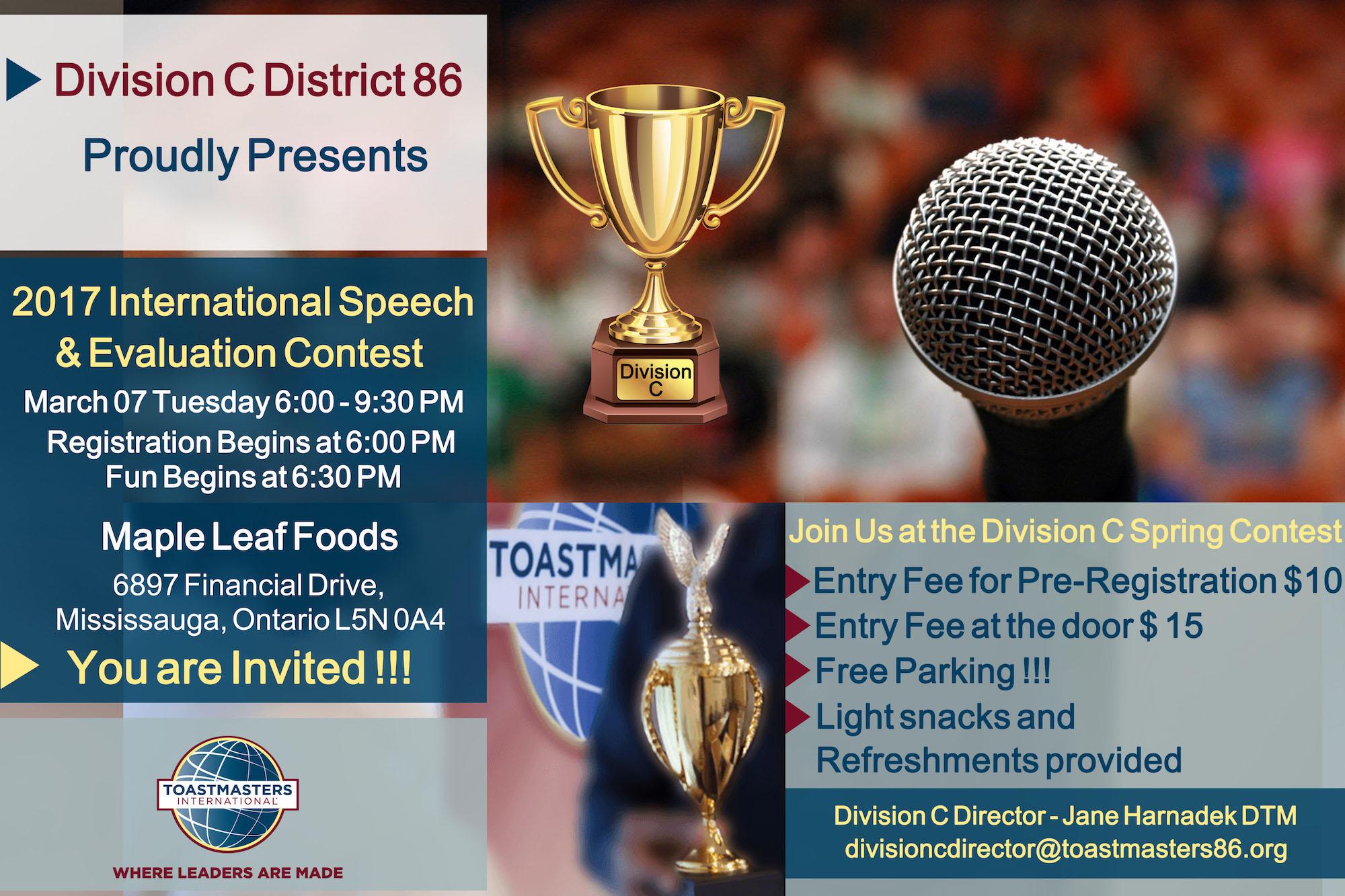 Division C International Speech & Evaluation Contest