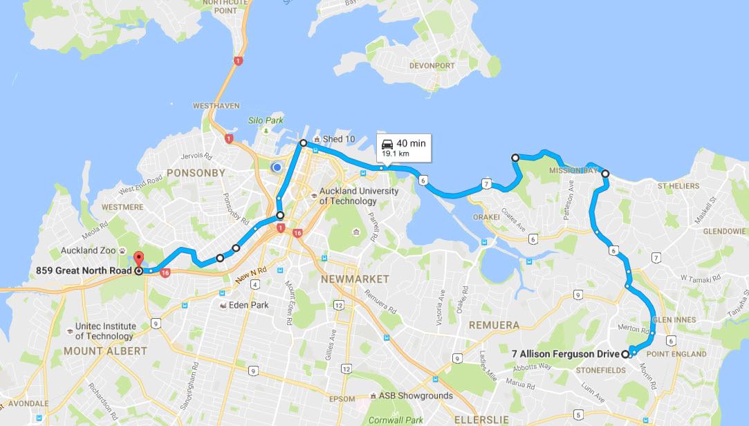 Auckland PRR Route