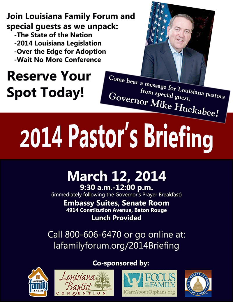 Pastors Briefing Announcement