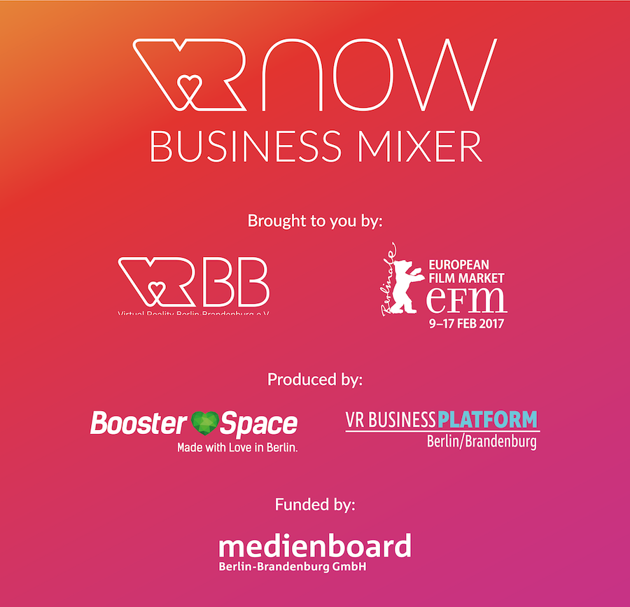 VR NOW Business Mixer Image with Sponsors