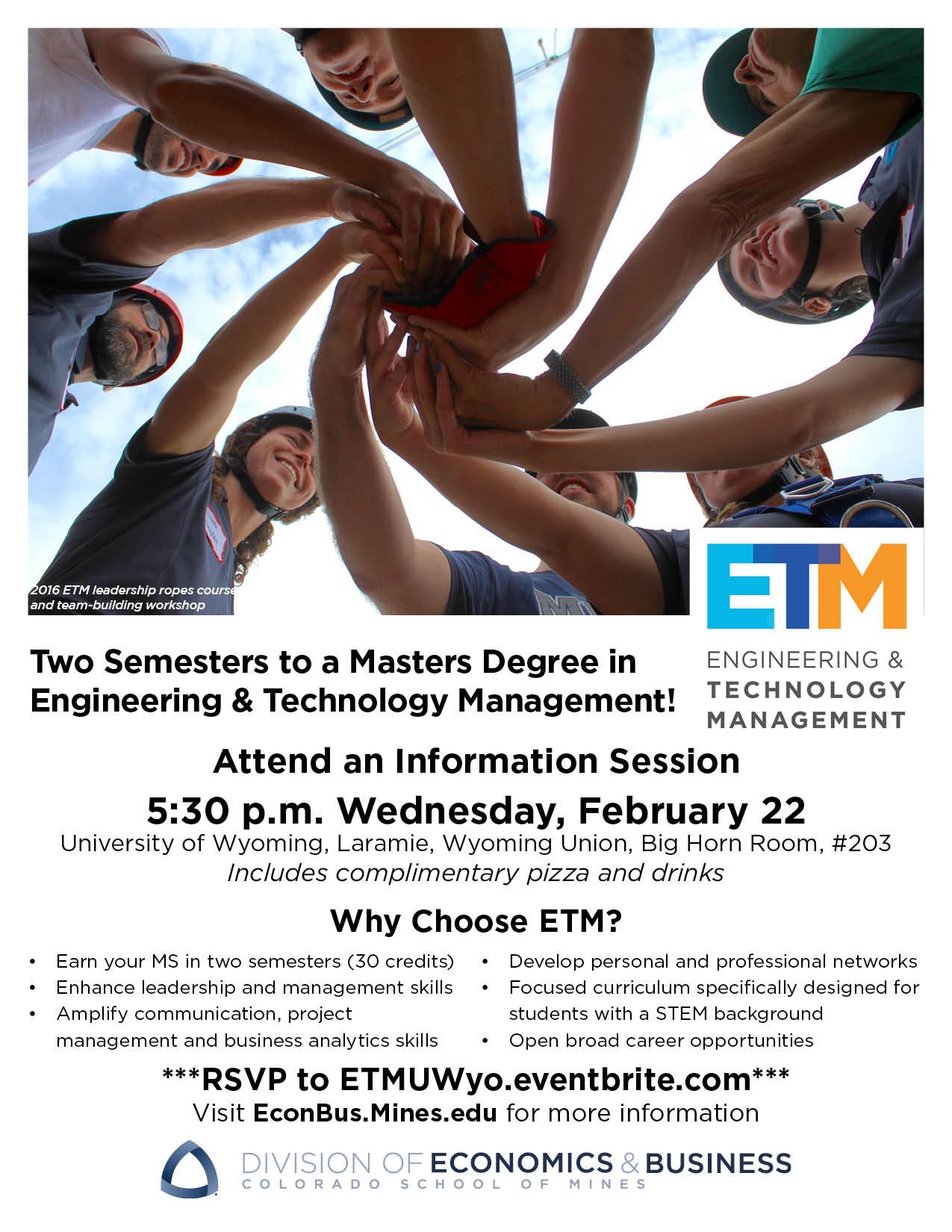 Mines ETM info session