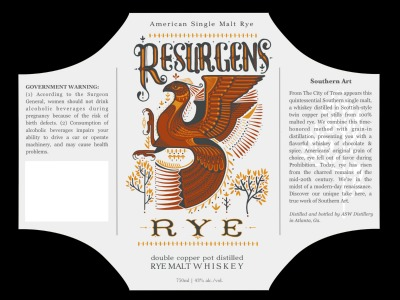 Resurgens Rye label by David Hale