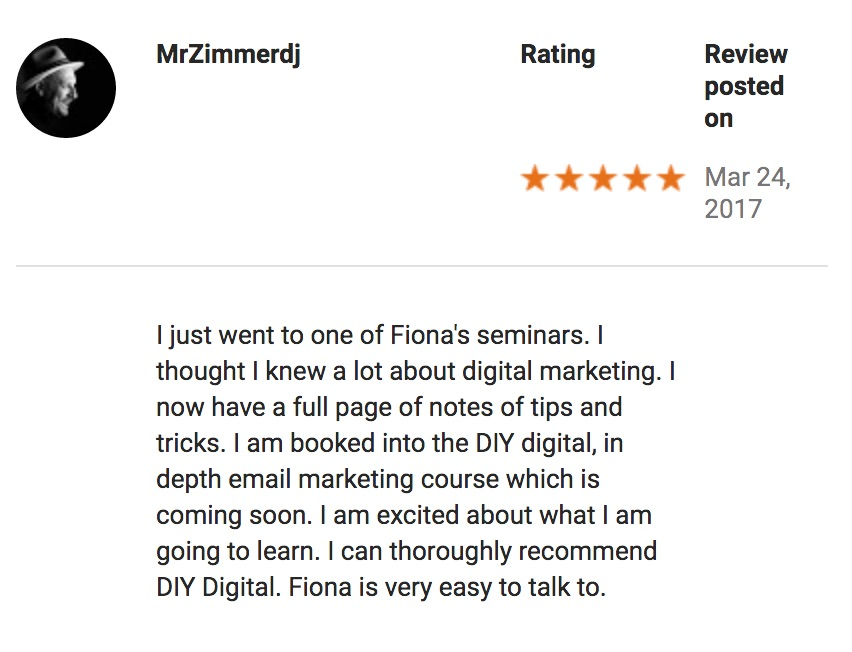 Google Review Mr Zimmerdj