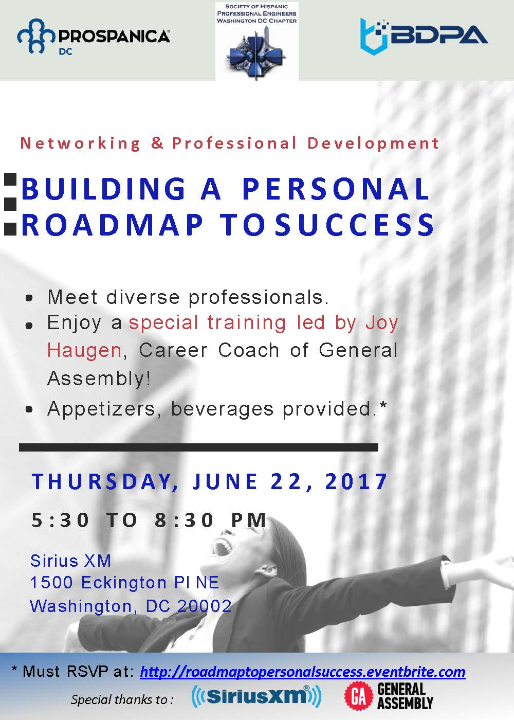 Building a personal Roadmap to Success Event Flyer