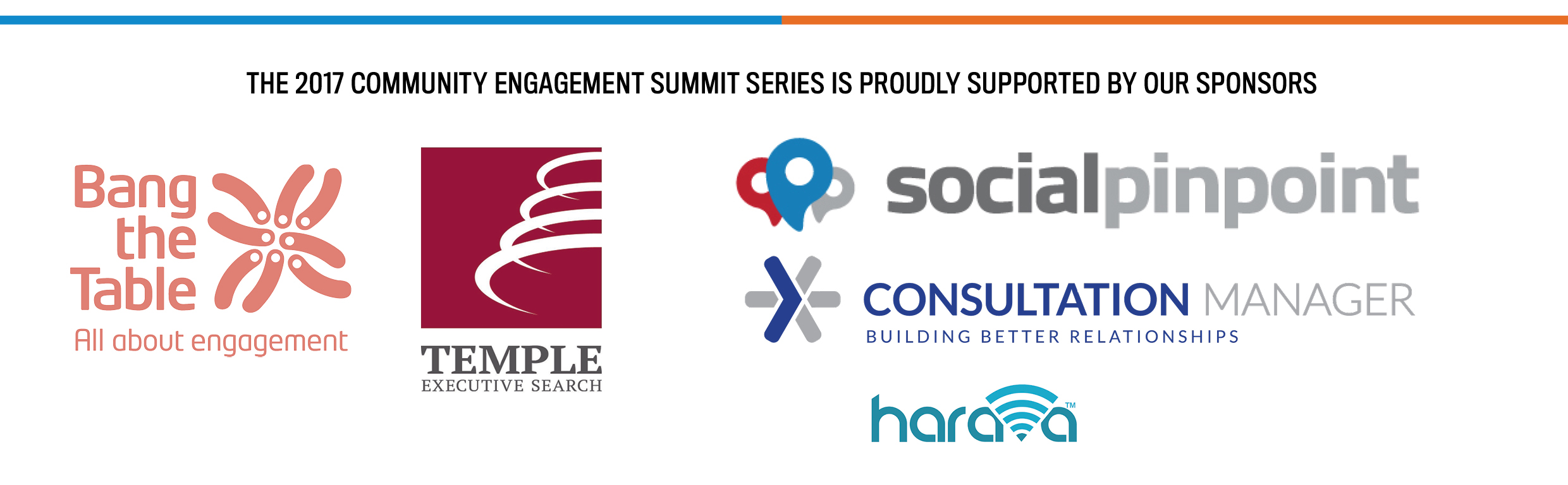 Community Engagemement Summit Series Sponsors