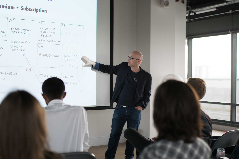 Andrew Bull hosting a workshop