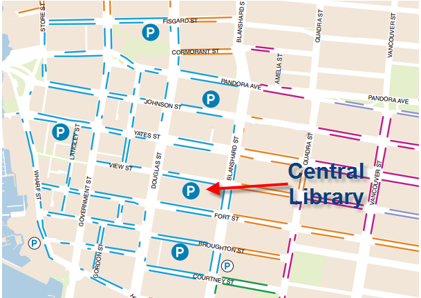 Map for GVPL and surrounding parking
