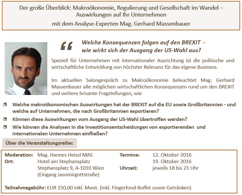 themenblock - Salongespräch Gerhard Massenbauer