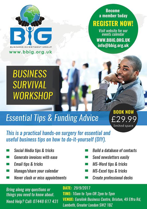 BIG Business Survival Workshop