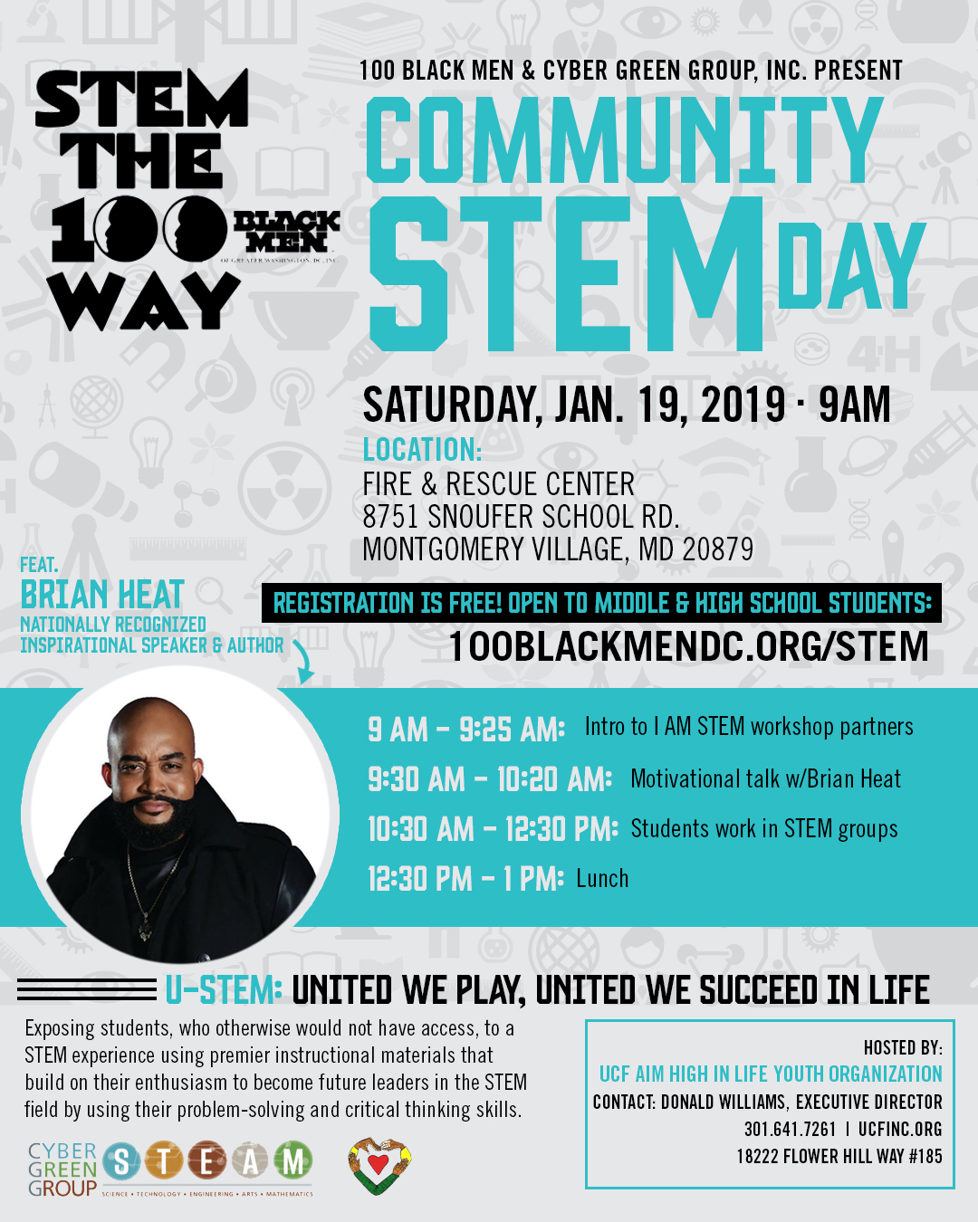 Flyer for Community STEM Day