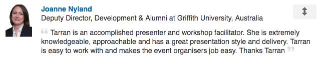 Joanne Nyland, Deputy Director, Development & Alumni at Griffith university