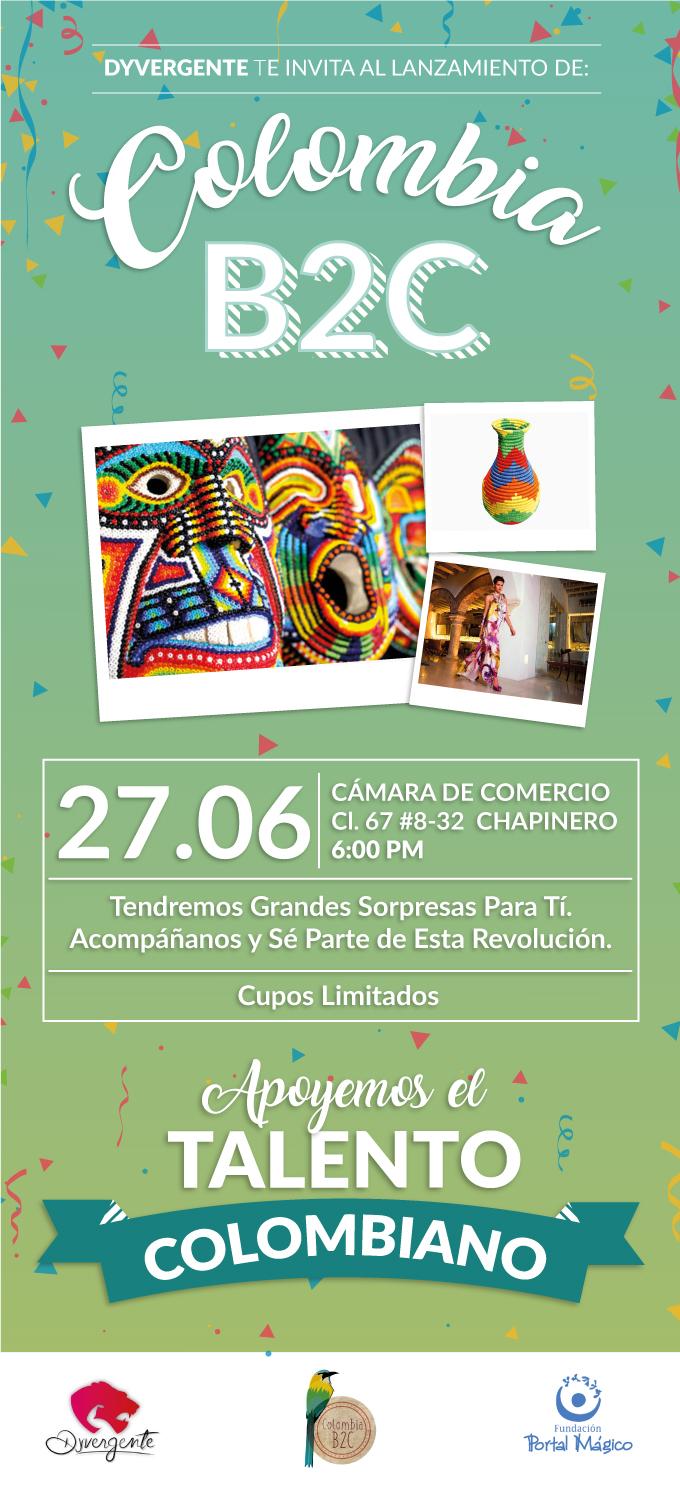 Invitación Lanzamiento ColombiaB2C