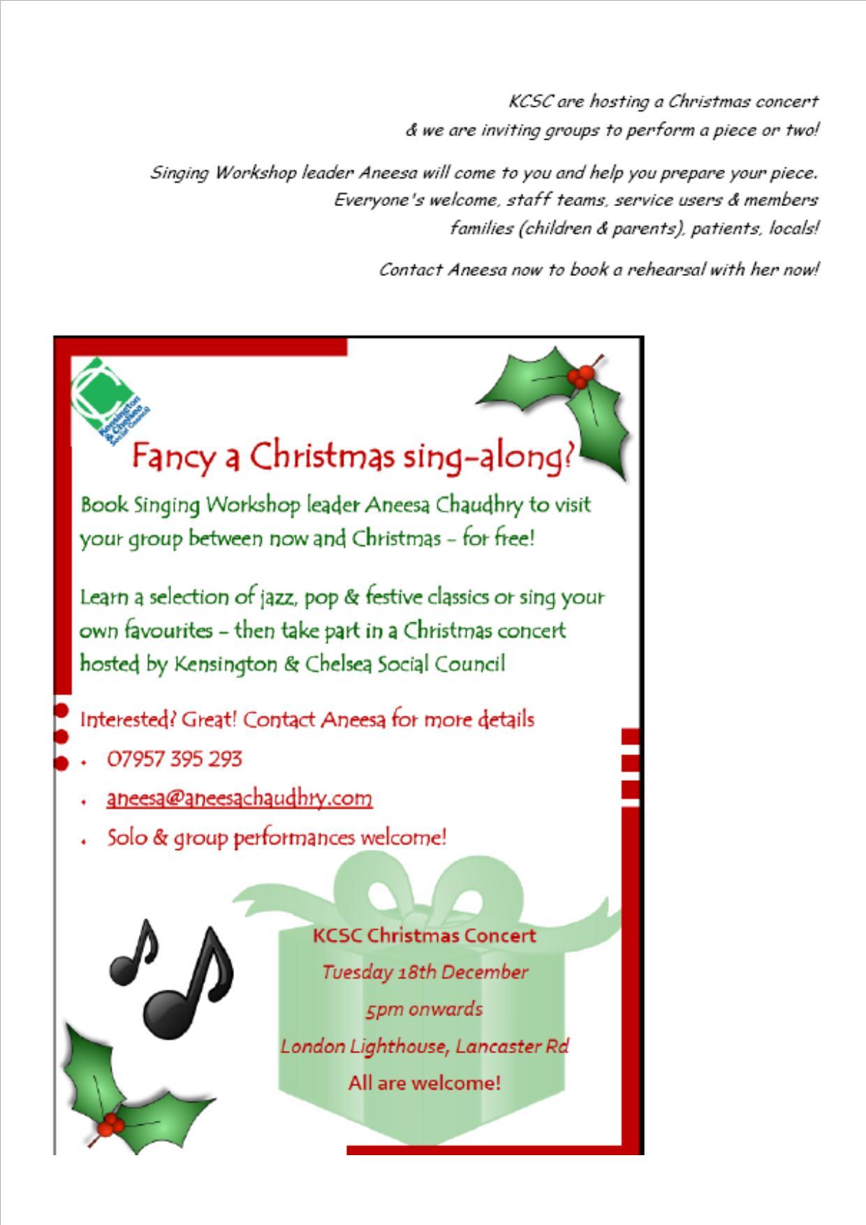 KCSC Christmas Concert & Party!