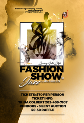 2017 Prince George's County Fashion Show Flyer