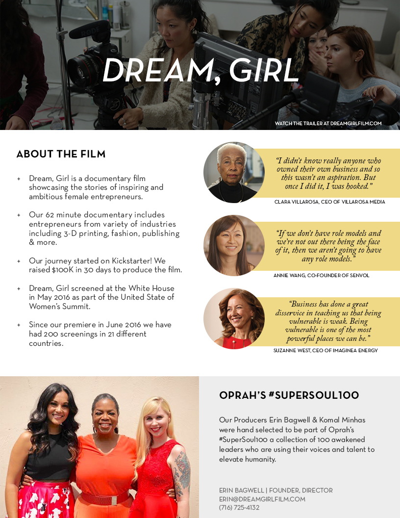 Dream, Girl - About the Film