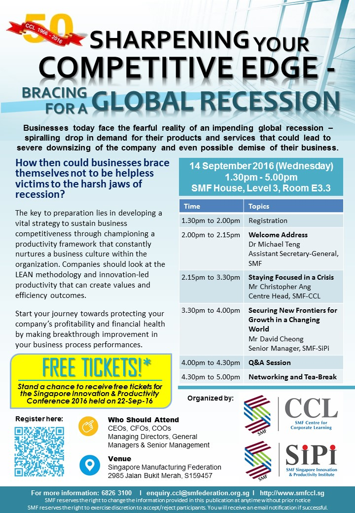 Sharpening Your Competitive Edge Bracing for a Global Recession