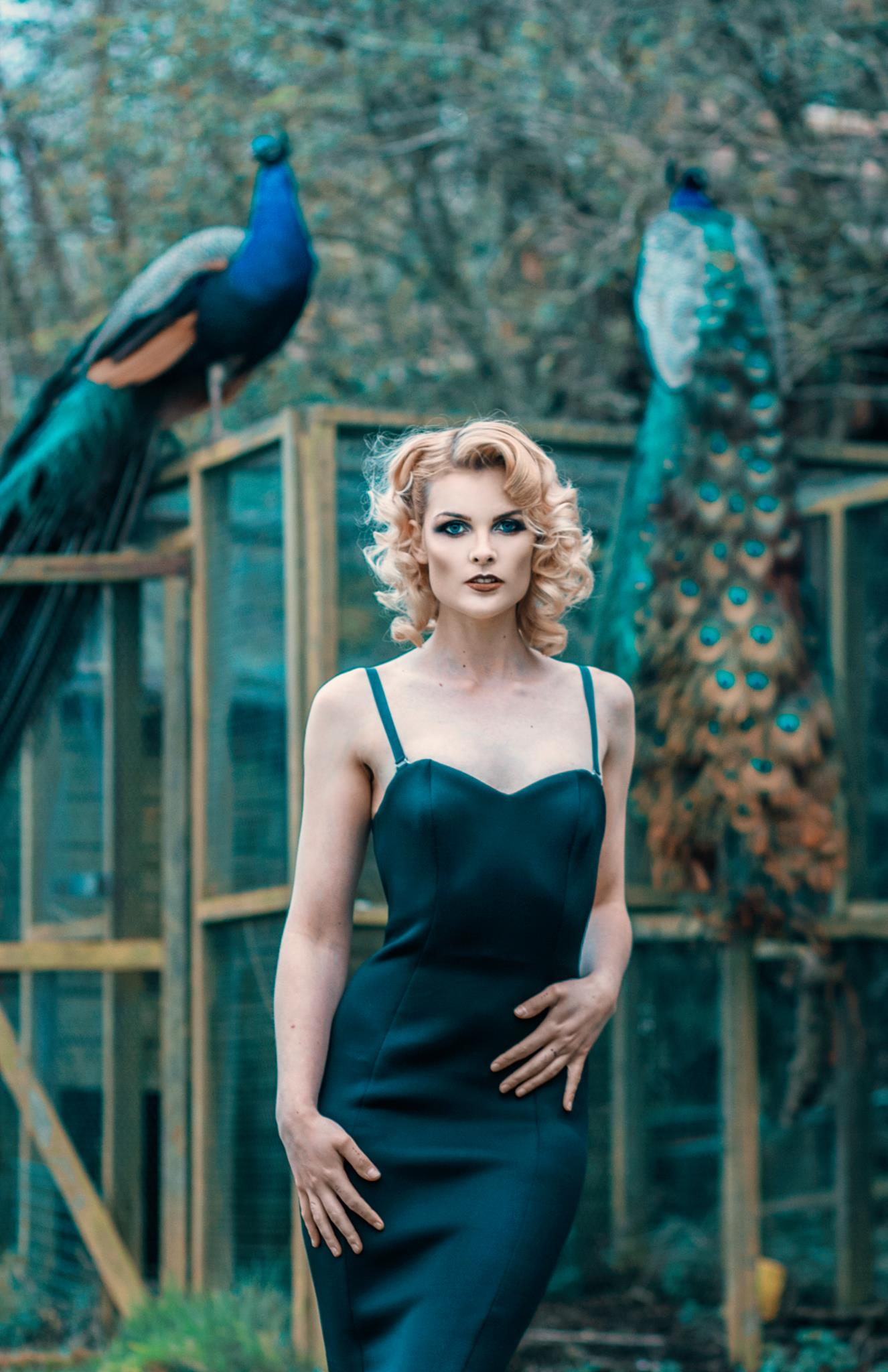 Salleh Sparrow wears Emareldi dress in black. Photography by Alexzander Gosling, MUAH by Sophie Battersby
