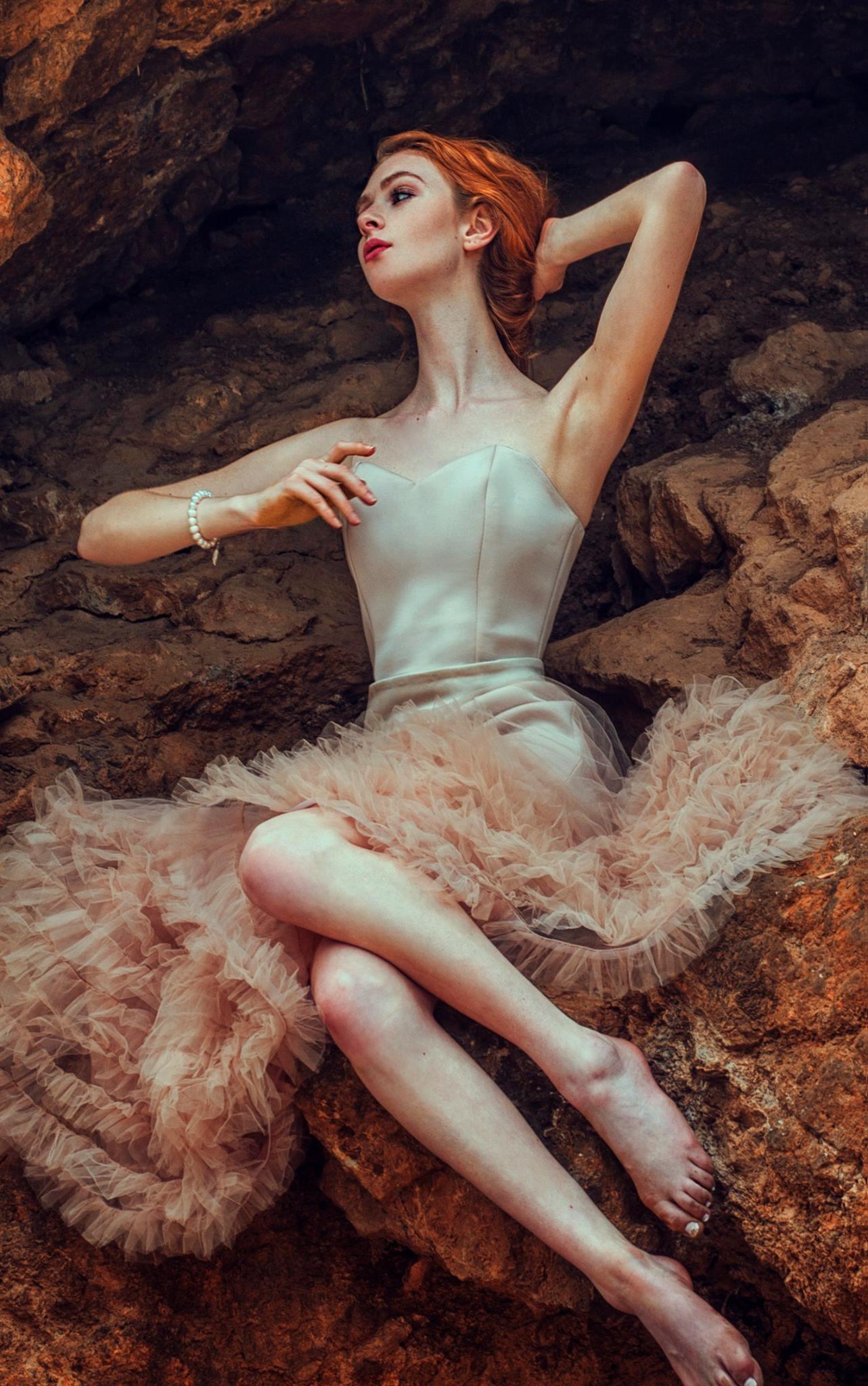 Abigail Tara-Lilly Kent wears Emareldi in tan with custom Tori skirt in tan. Photography by Salleh Sparrow