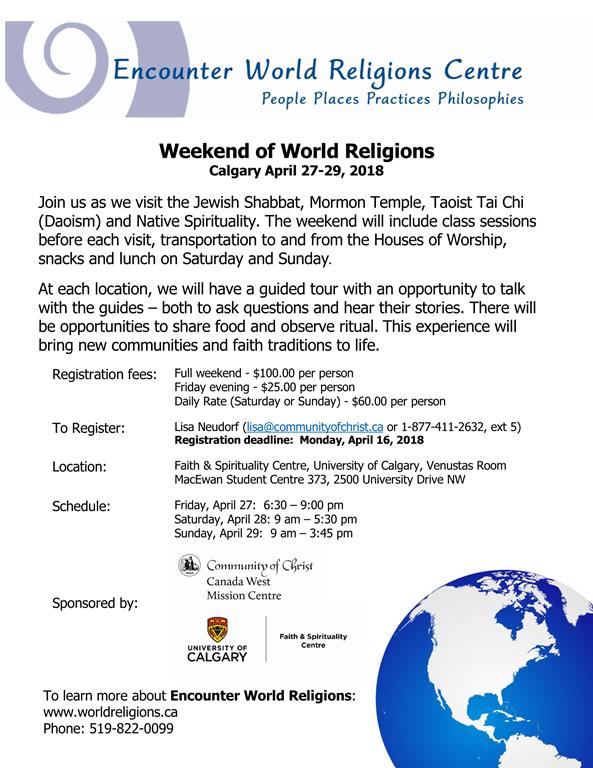 Encounter World Religions: Calgary poster