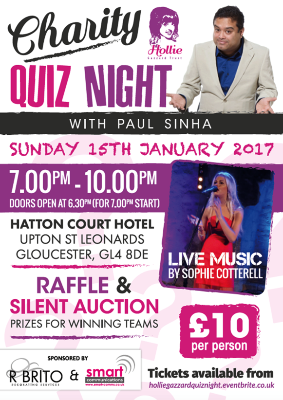 Hollie Gazzard TRust Quiz Night