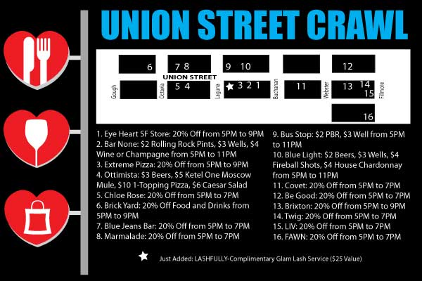 Union Street San Francisco Crawl