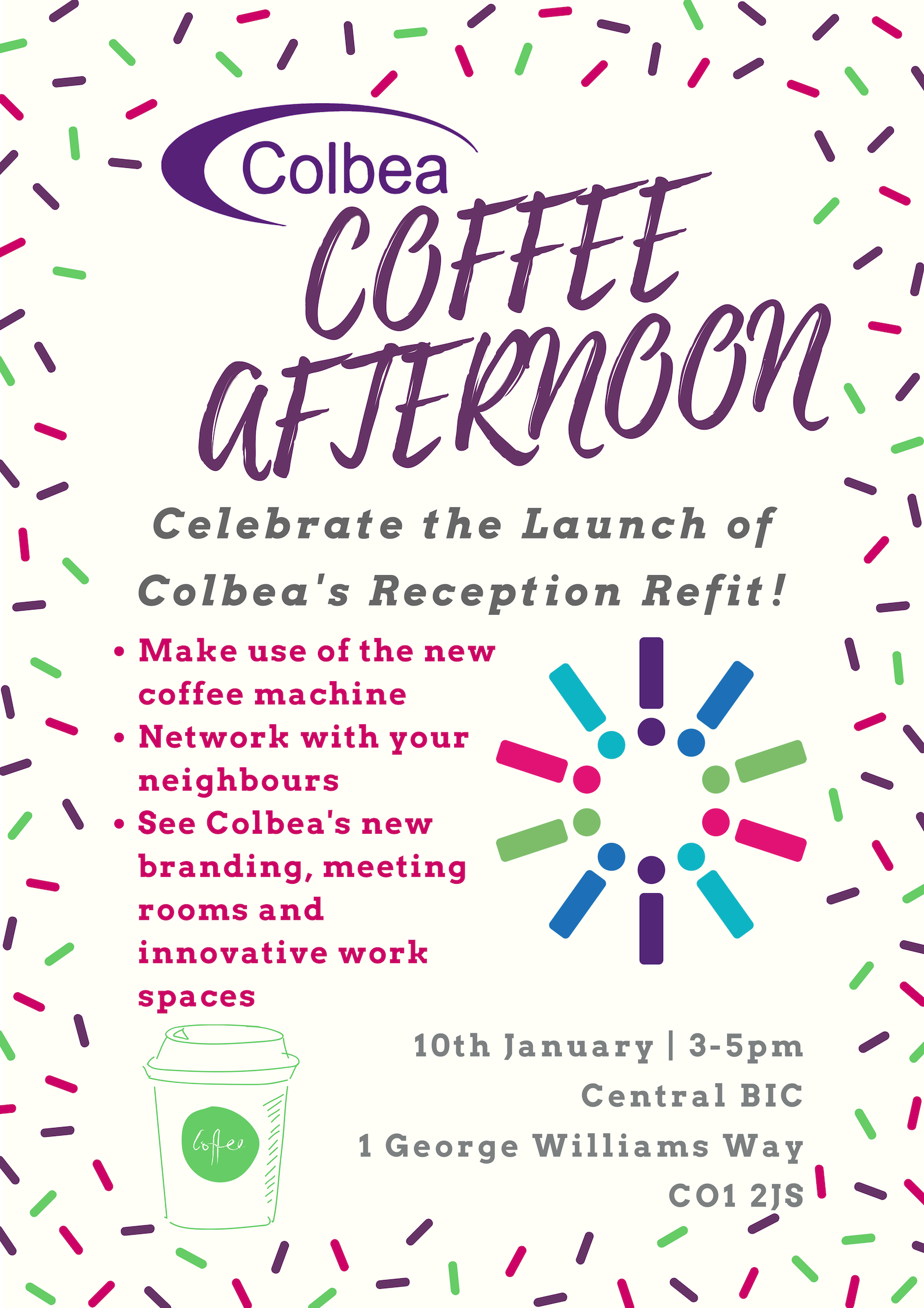 Colbea Coffee Afternoon Reception Refit Launch