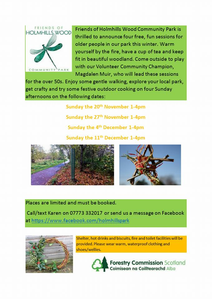 Over 50s Woodland Sessions Holmhills Park Cambuslang