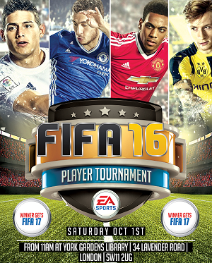 Fifa 16 Tournament flyer