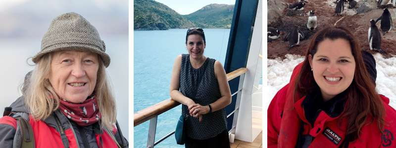 Guest speakers at cruise event