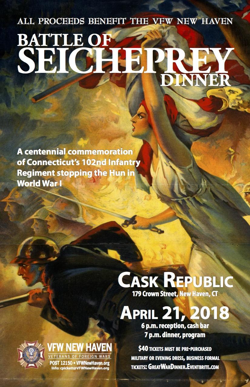 Flyer for Battle of Seicheprey Dinner