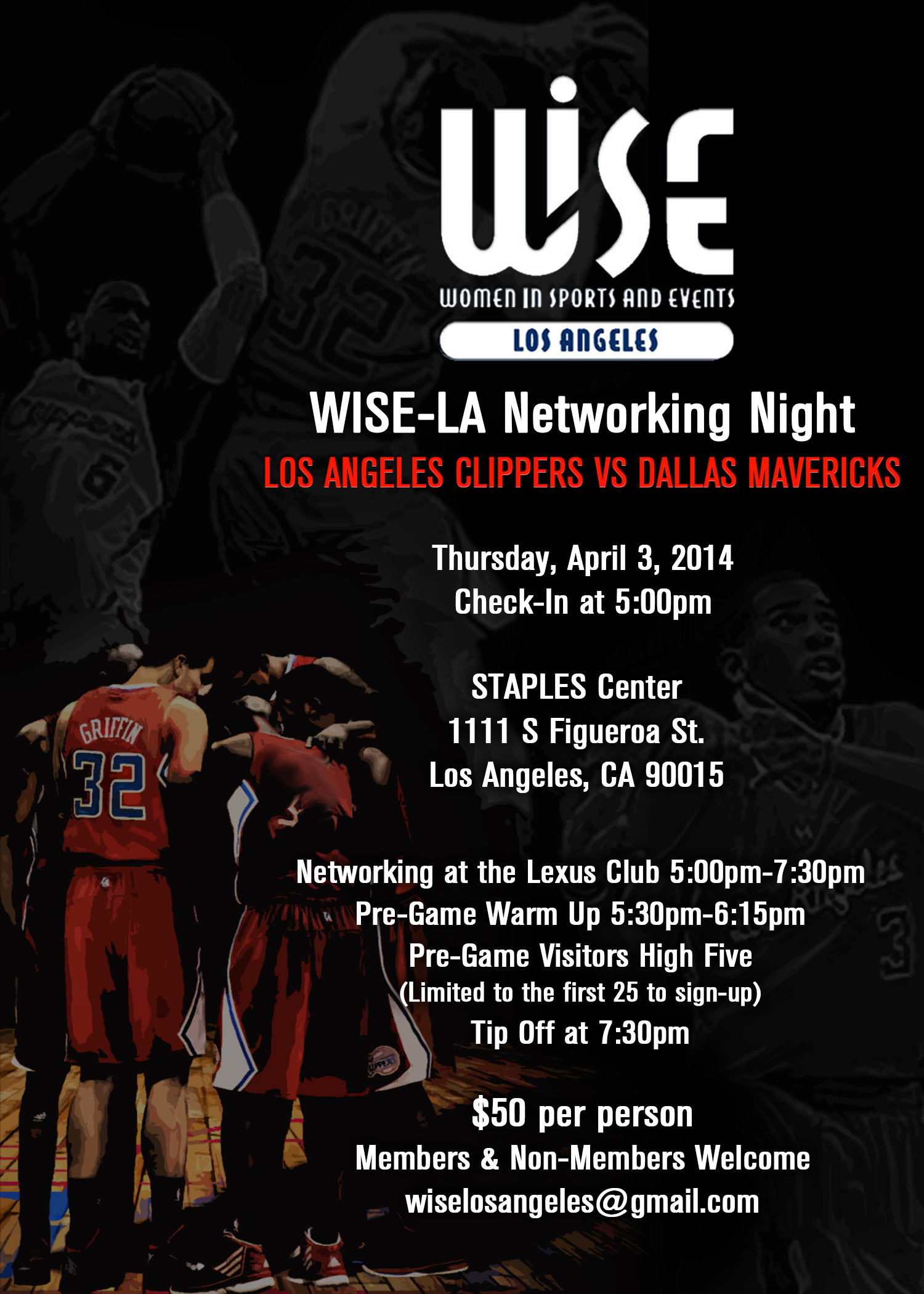 Clippers Vs Mavericks Networking Night