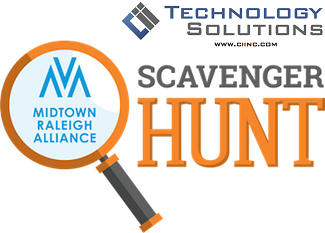 Smart Phone Scavenger Hunt presented by Cii Technology Solutions Pull your team together and see how  many points you can amass while chasing down scavenger hunt clues and registering them with your smart phone. Obtain enough points to be in the prize drawings. One smartphone registered per team - Social Scavenger application download required before team can play. Extra charge for Smart Phone Scavenger Hunt.