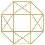 MLE Insights Logo Gold 8 Sided Gem