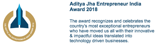 The Aditya Jha Entrepreneur India Award 2018