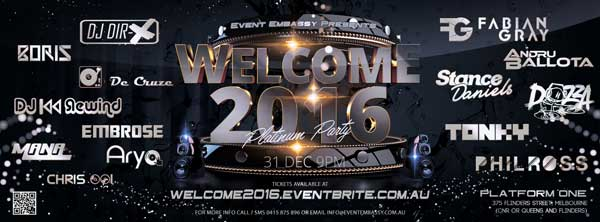 Welcome NYE 2016 @ platform one