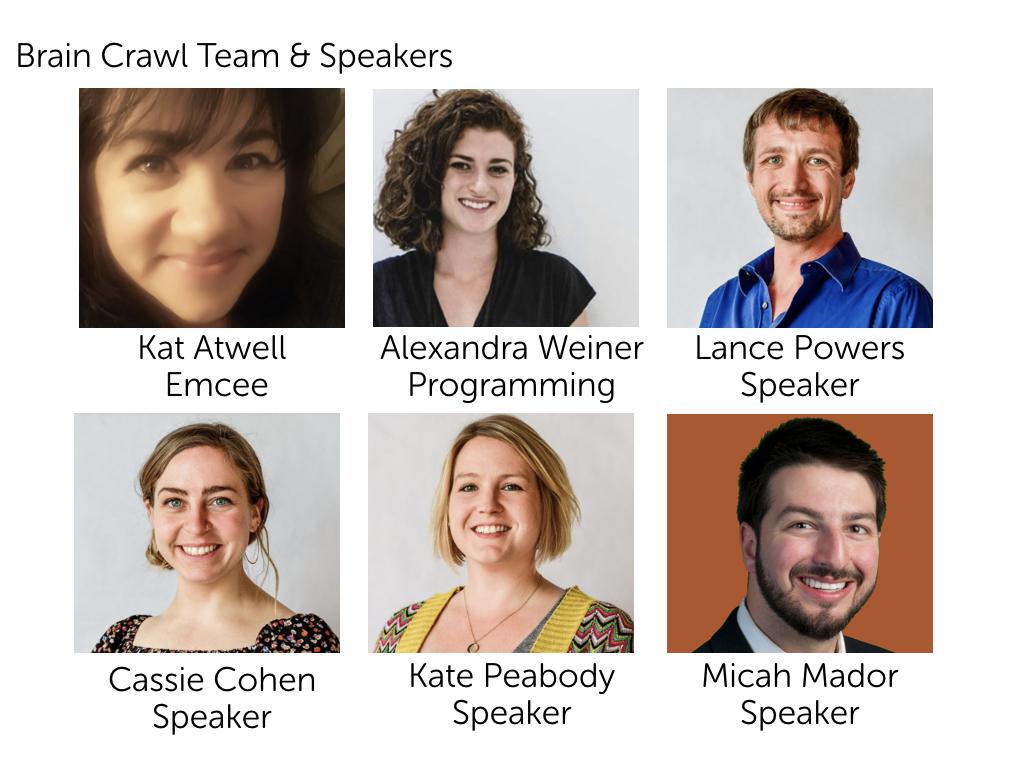 Brain Crawl Team & Speakers
