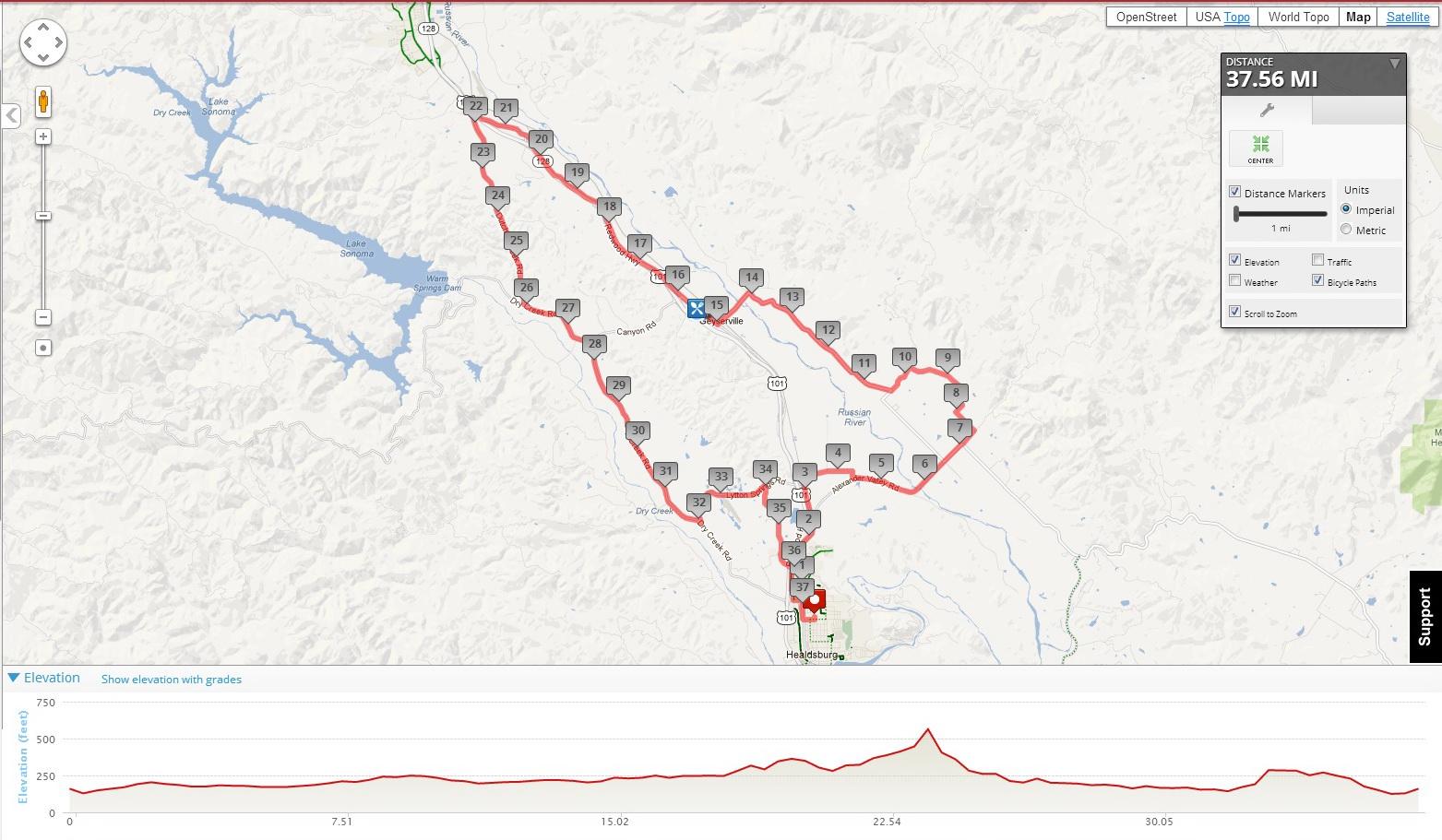 37 mile