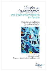 Photo Livre Accès des francophones aux études postsecondaires