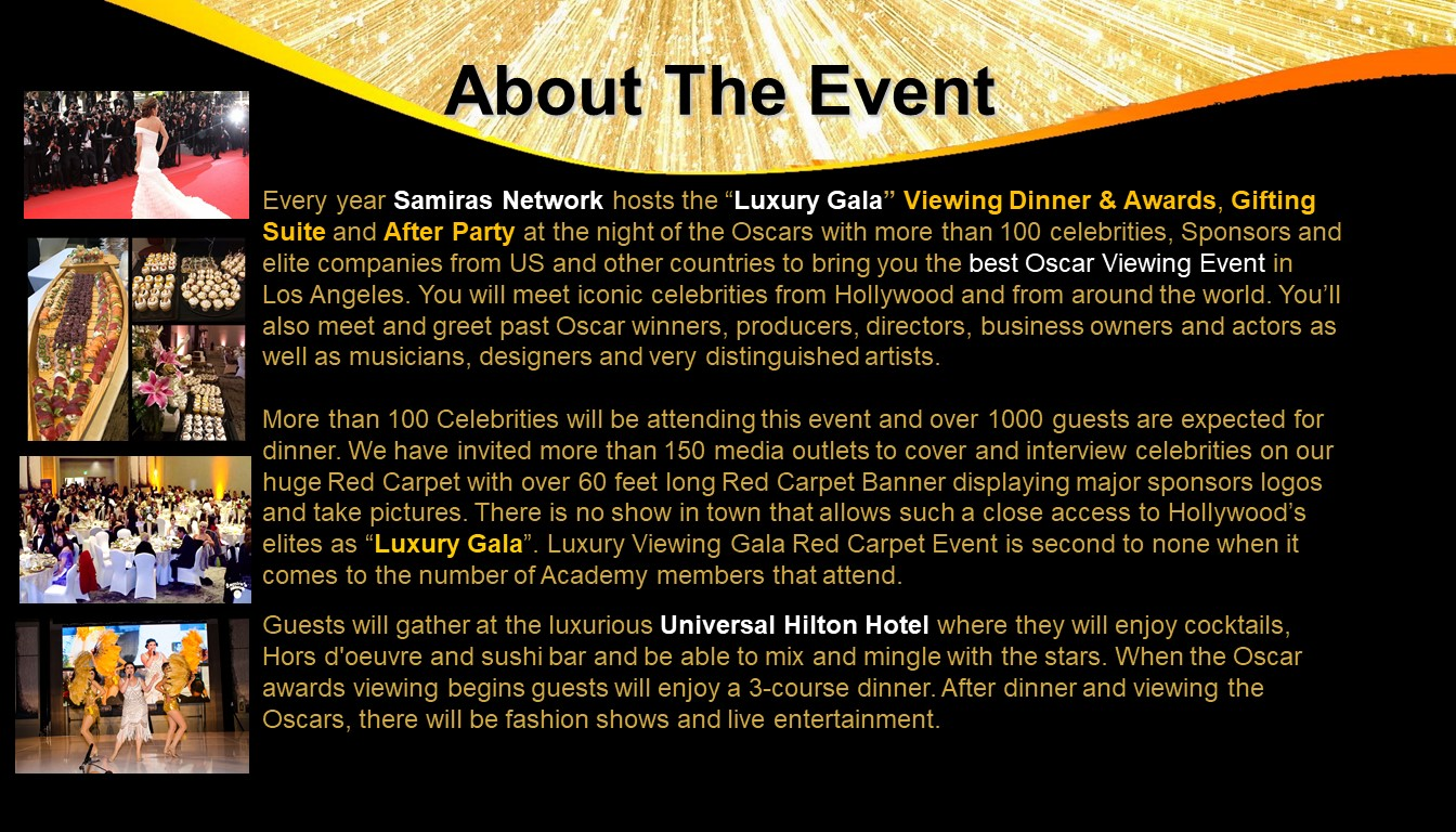 Luxury Viewing Gala 2020 -Screening the Oscars
