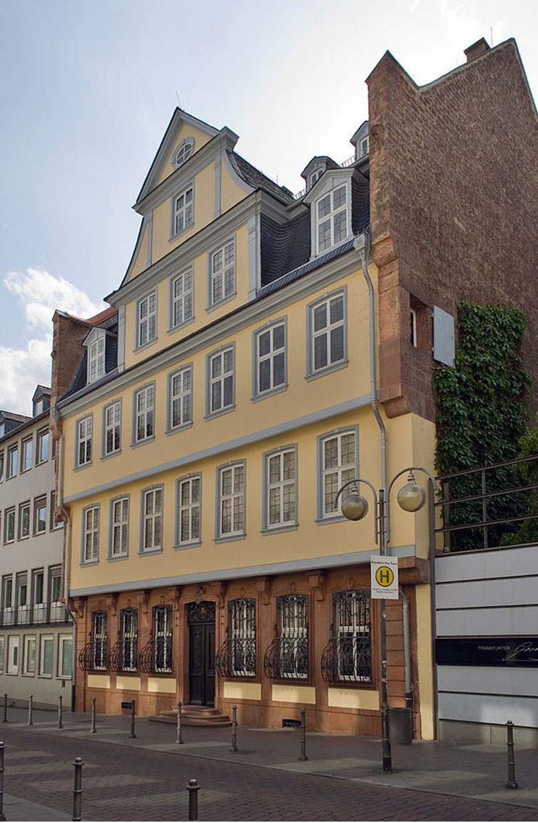 Goethe House and Goethe Museum In the Goethe House, friends and admirers feel themselves transported back into the world of the great poet and most famous son of the city of Frankfurt.