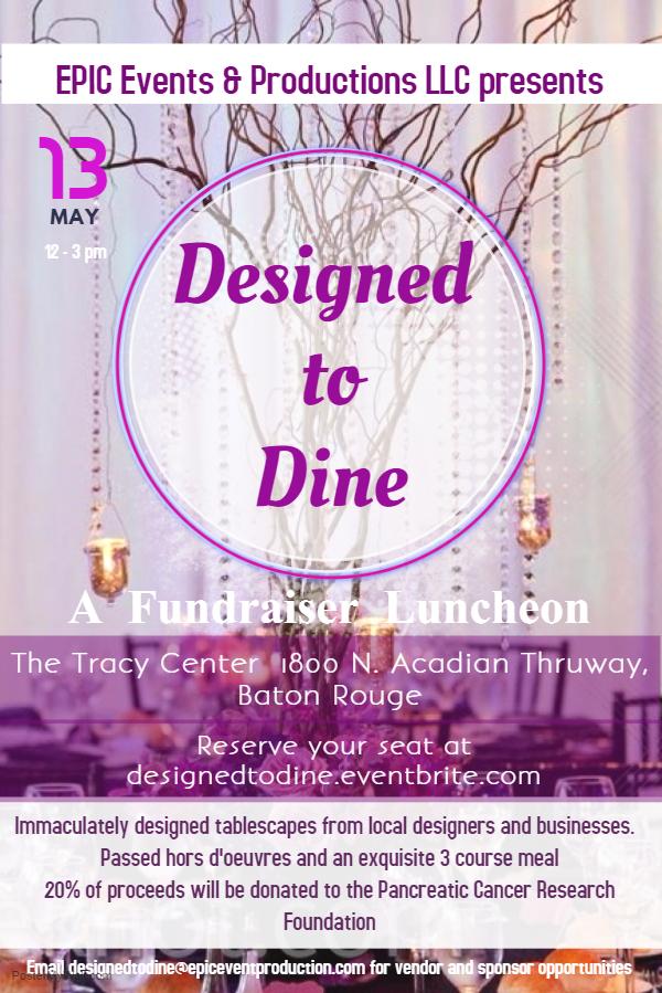 Designed to Dine flyer