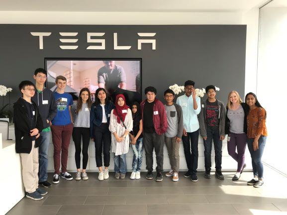 2018 Winners Visit to Tesla