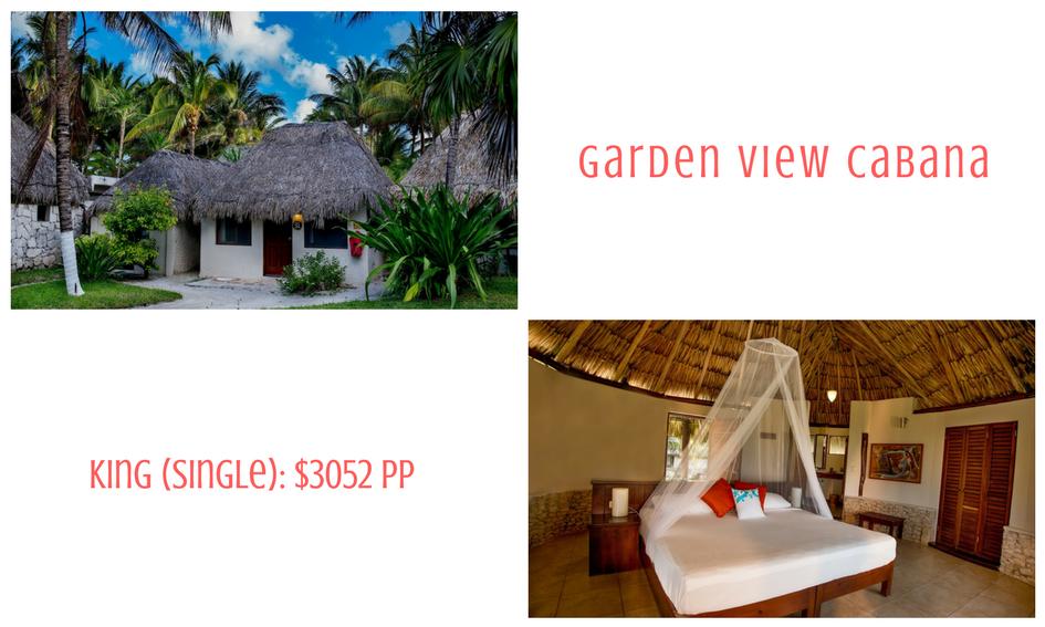 Garden view cabana king