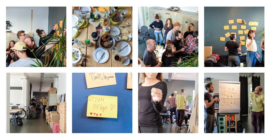 Eindrücke vom Team Barcamp im Hafven Linden