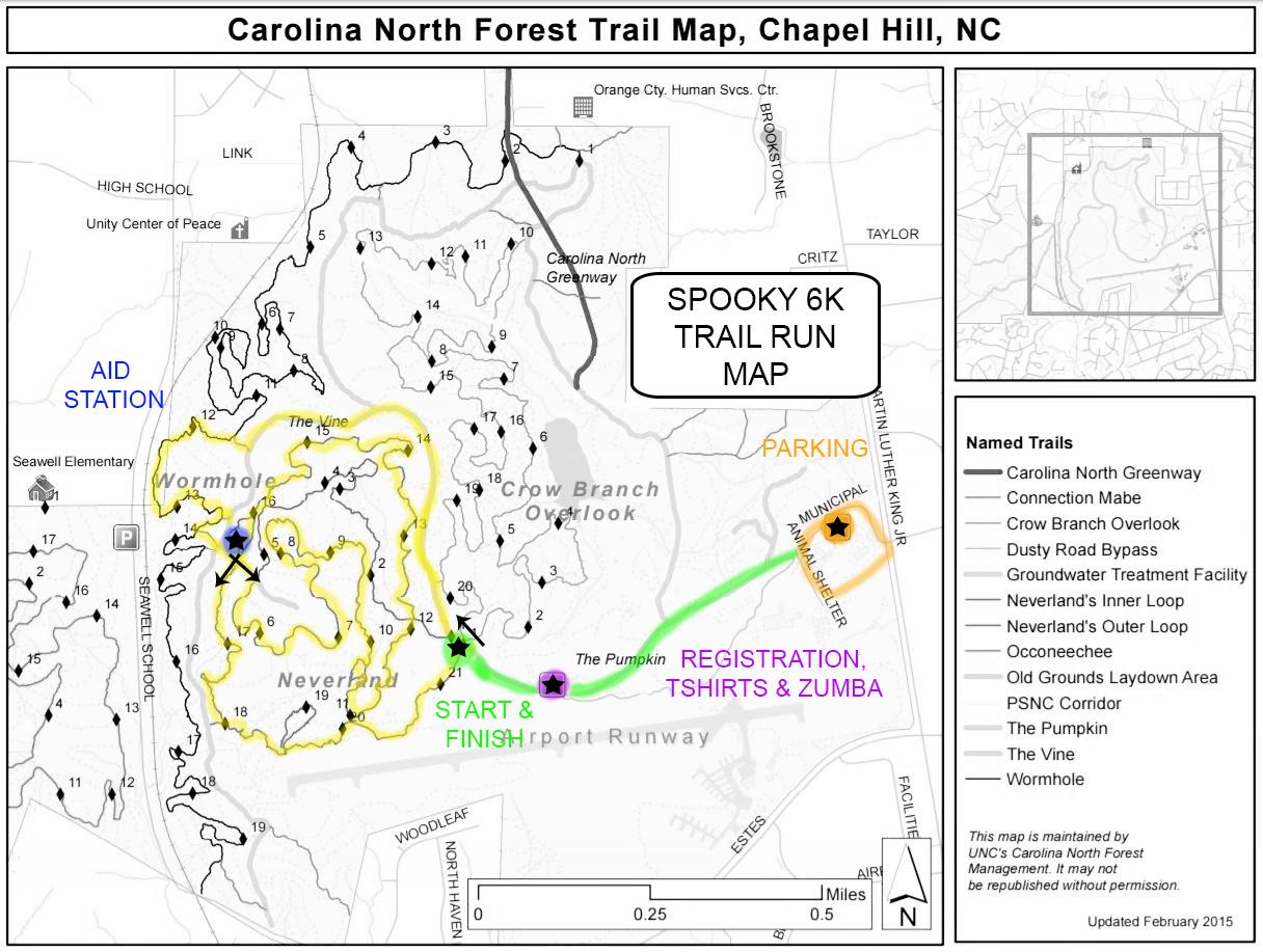 EWB Spooky 6K Trail Run MAP