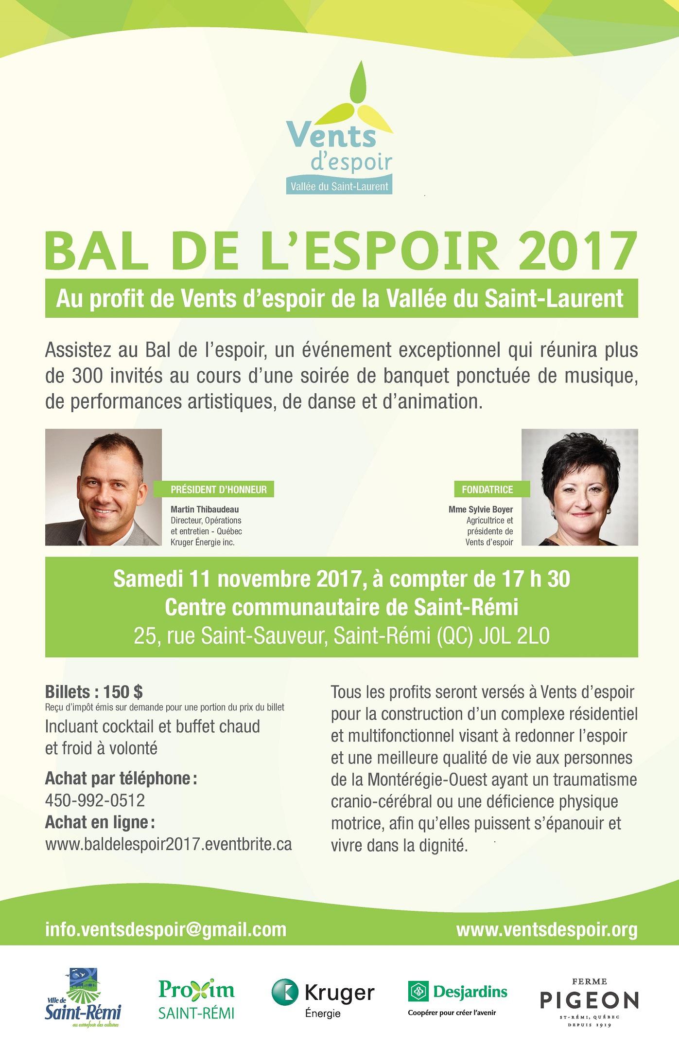 Affiche Bal de l'espoir 2017