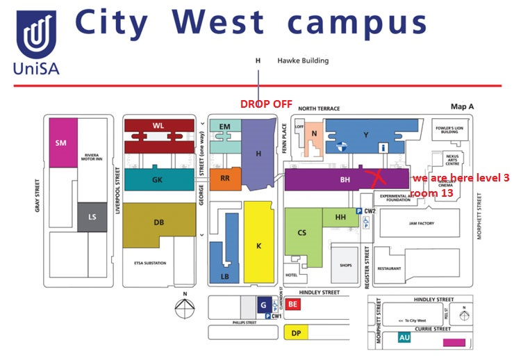 City West Campus Map - MOD. location