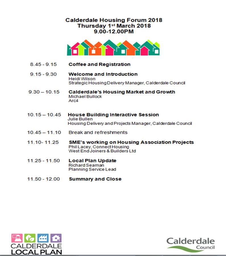 Calderdale Housing Forum agenda
